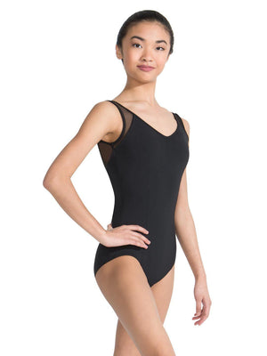 Capezio Meryl V-Neck Tank Leotard - Black - Style:MC829W