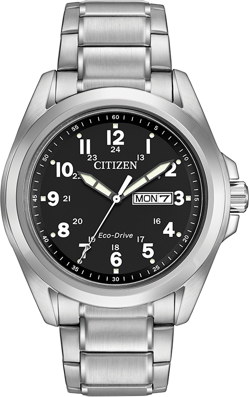 Citizen Eco Drive AW0050-82E 43mm Black Dial Stainless Steel Classic Men's Watch