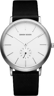 Danish Design IQ12Q930 Stainless Steel Case Leather Strap White Dial Men's Watch