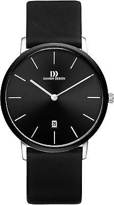 Danish Design IQ13/IQ14/IQ15Q1030 Stainless Steel Leather Band Men's Watches