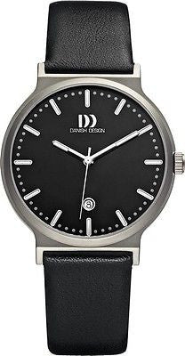 Danish Design IQ12/IQ13Q993 Titanium Case Leather Band Men's Watch