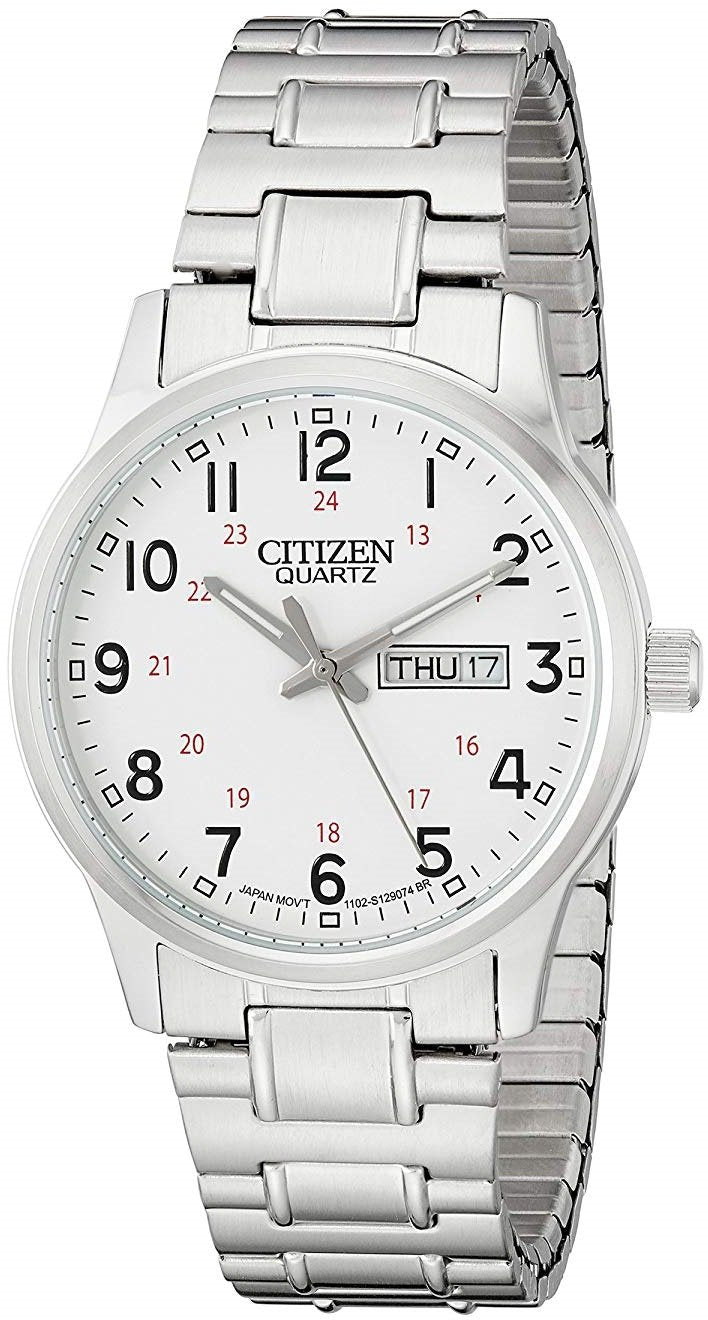 Citizen BF0610-91A Day/Date White Dial Stainless Steel Quartz Men's Watch