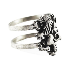 lion silver ring