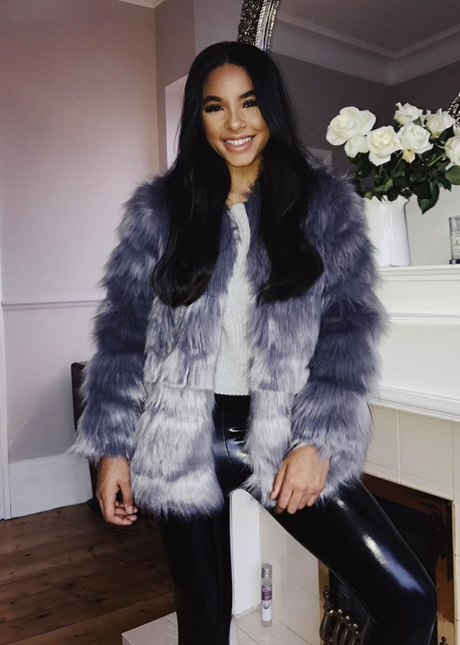Faux Fur Coat - Grey