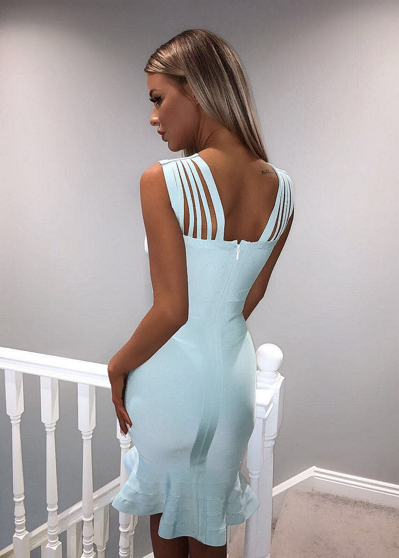 'Cross It Over' Bandage Dress - Mint