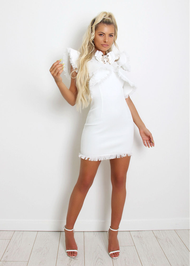 Cinderella Frill Dress - White