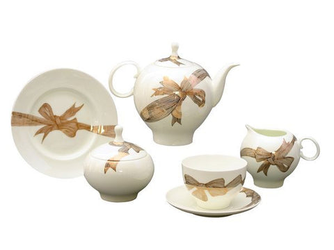Tea set Apple Platinum Bows 6/20
