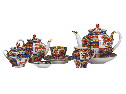 Tea set 6/20 Spring The Traditional Patterns