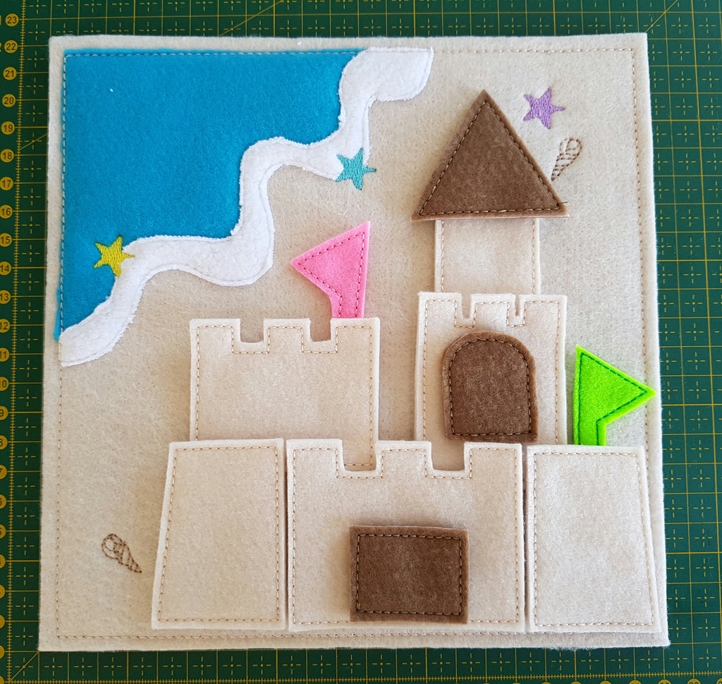 6x6 & 8X8 BEACH QUIET BOOK PAGE