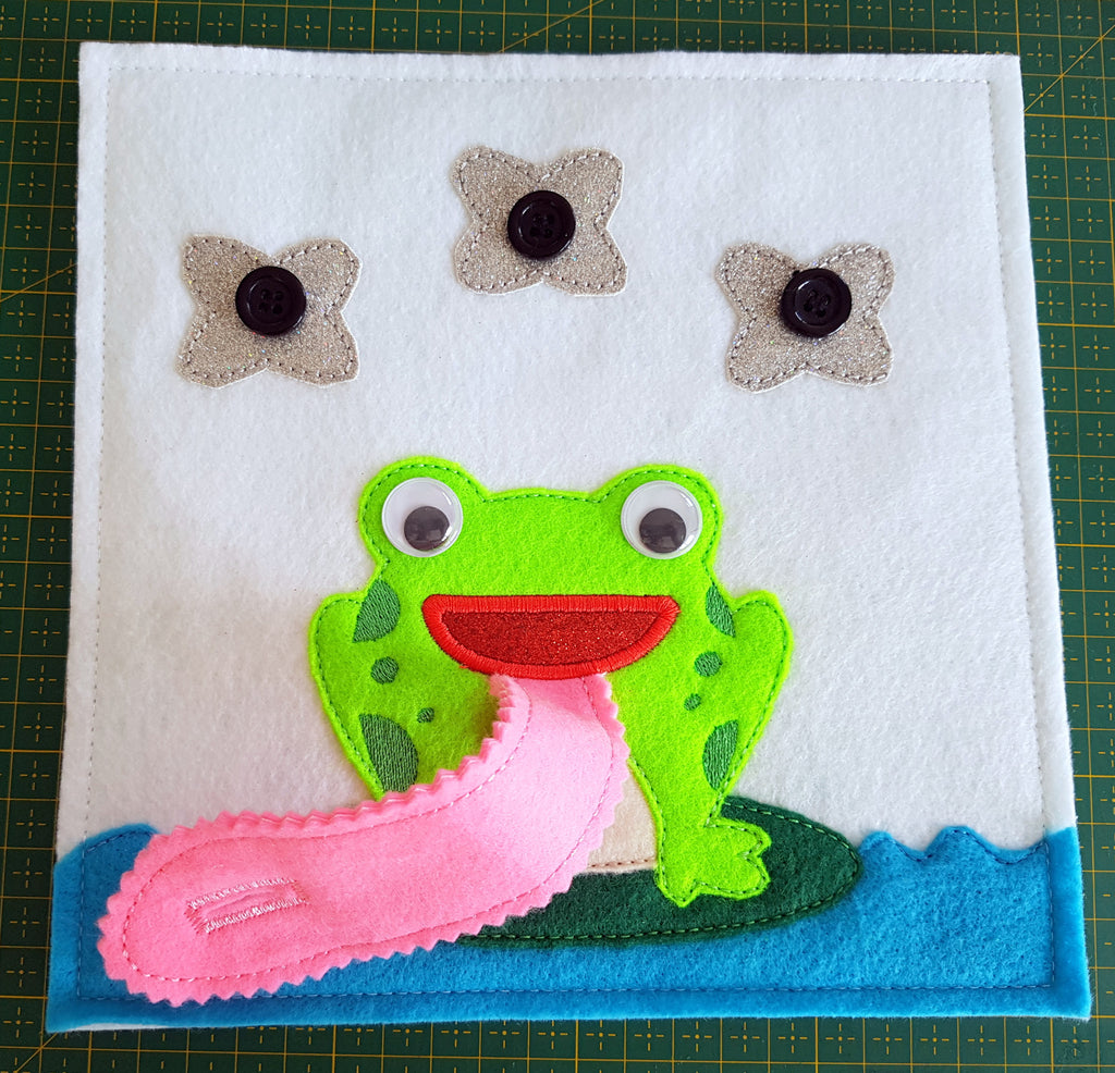 6X6 & 8X8 FROG AND FLIES ITH QUIET BOOK PAGE