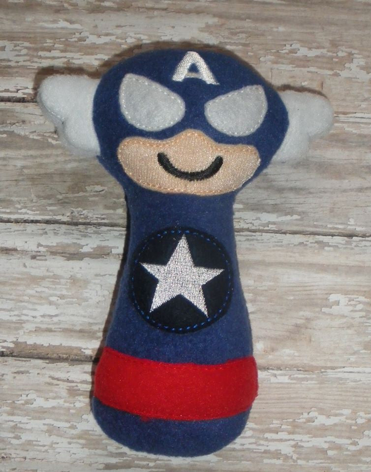 CAPTAIN AMERICA RATTLE PATTERN