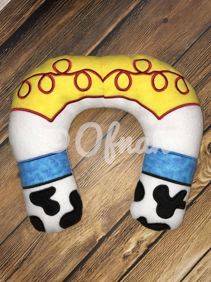 6X10 & 8X12 JESSIE COWGIRL INSPIRED NECK PILLOW