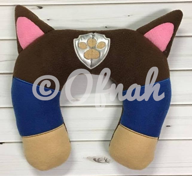6X10 & 8X12 POLICE COP PUPPY NECK PILLOW