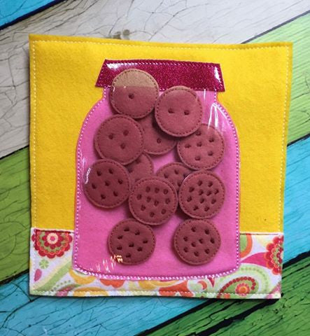 6X6 & 8X8 COOKIES' JAR ITH QUIET BOOK PAGE