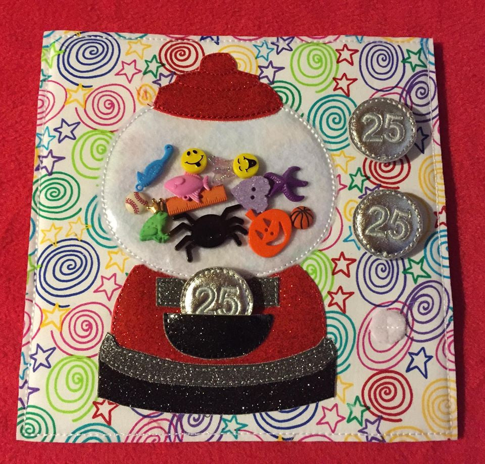 6X6 & 8X8 GUMBALL MACHINE ITH QUIET BOOK PAGE