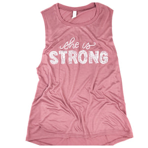 She is Strong Muscle Tank