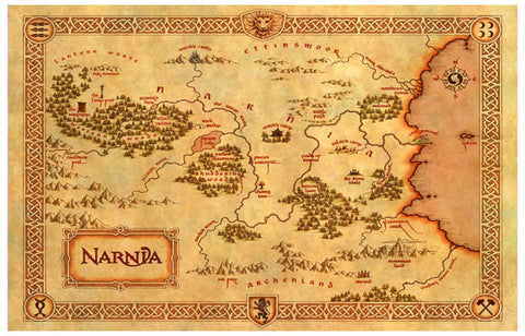 Chronicles of Narnia Map Poster