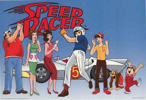 Speed Racer Cartoon Poster