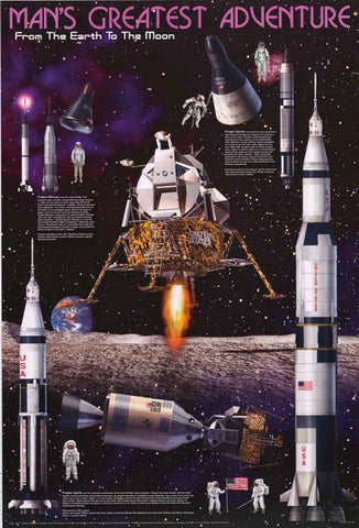 NASA Apollo Moon Landing Poster