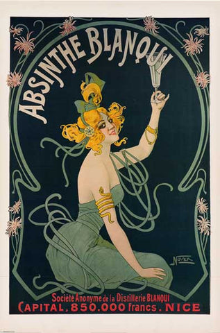 Absinthe Blanqui French Ad Poster