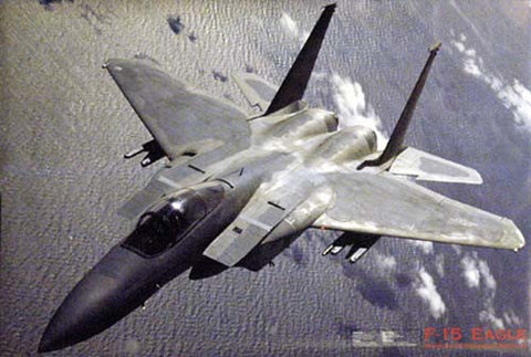 F-15 Eagle Military Aircraft Poster