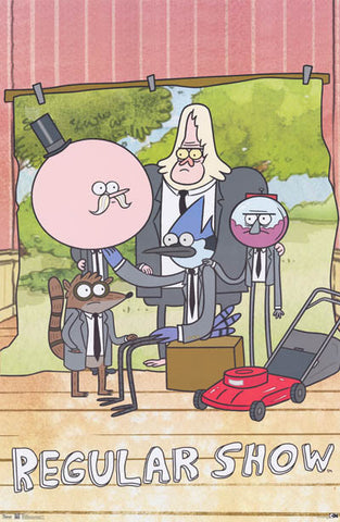 The Regular Show Cartoon Poster