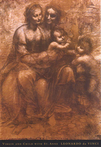 Leonardo Da Vinci Virgin and Child Poster