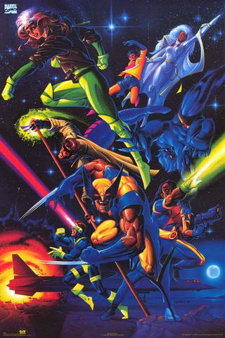 X-Men Marvel Comics Poster