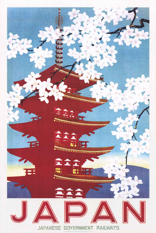 Japan Railway Travel Poster