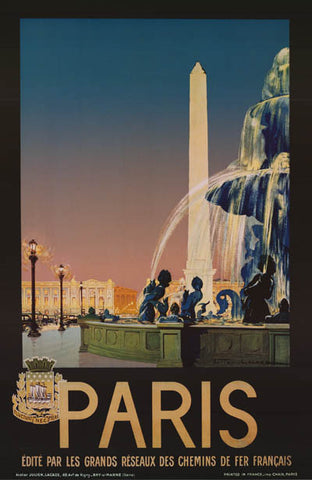 Paris France Julian Lacaze Travel Poster