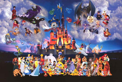 Magic Kingdom Disney Characters Poster