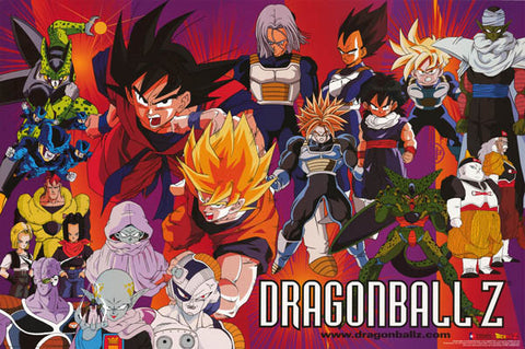 Dragon Ball Z Cartoon Poster