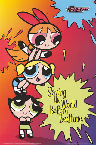 Powerpuff Girls Cartoon Poster