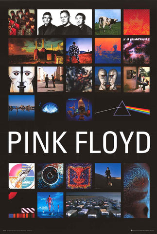 Pink Floyd Album Covers Poster