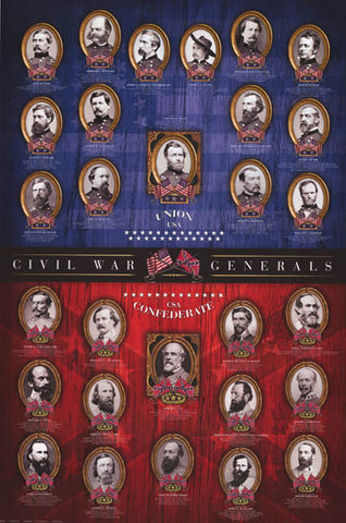 Civil War Generals Poster