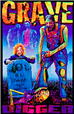 Zombie Blacklight Poster