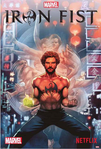 Iron Fist Marvel Comics Poster