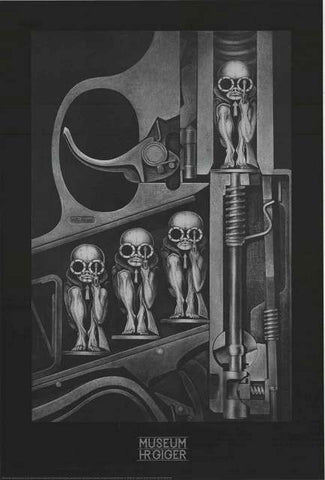 HR Giger Birth Machine Poster