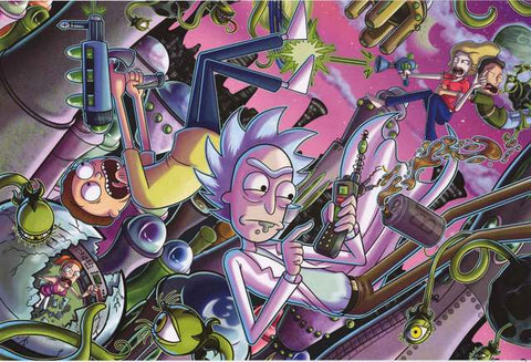 Rick and Morty Cartoon Poster