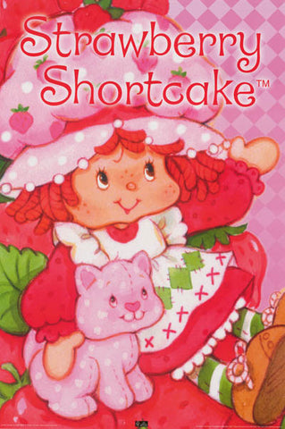 Strawberry Shortcake Cartoon Poster