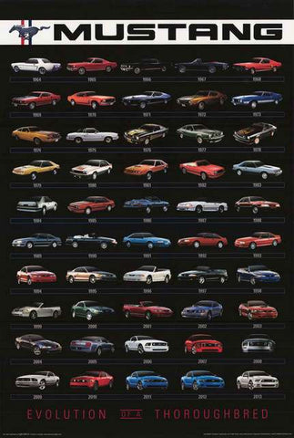 Ford Mustang Evolution Poster