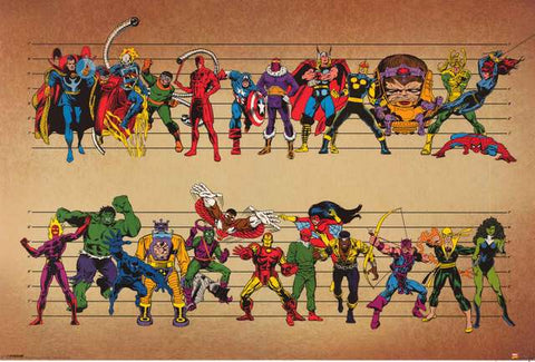 Marvel Comics Superheroes Poster