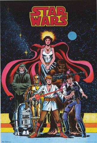 Star Wars Comic Book Poster