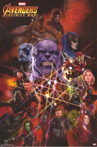 Avengers Infinity War Marvel Comics Movie Poster