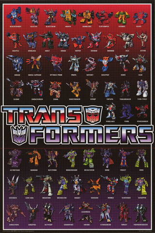Transformers Autobots and Decpticons Poster