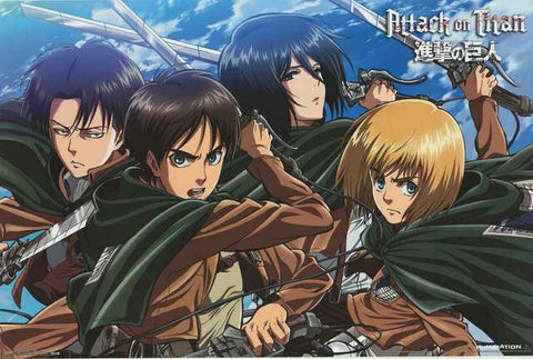 Attack on Titan Cartoon Poster