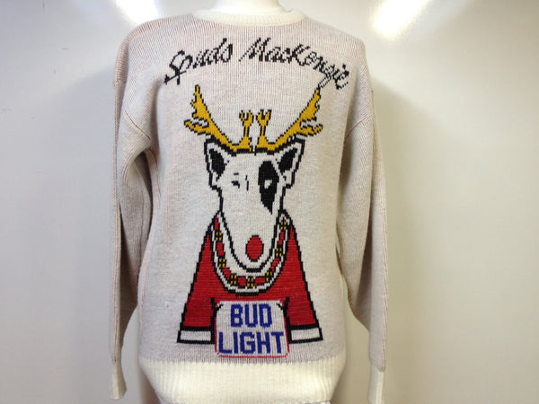 Vintage Spuds Mackenzie Bud Light Sweater