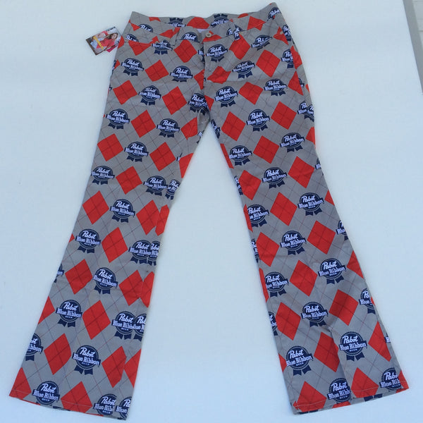 Pabst Blue Ribbon Loudmouth Golf Pants Size 2