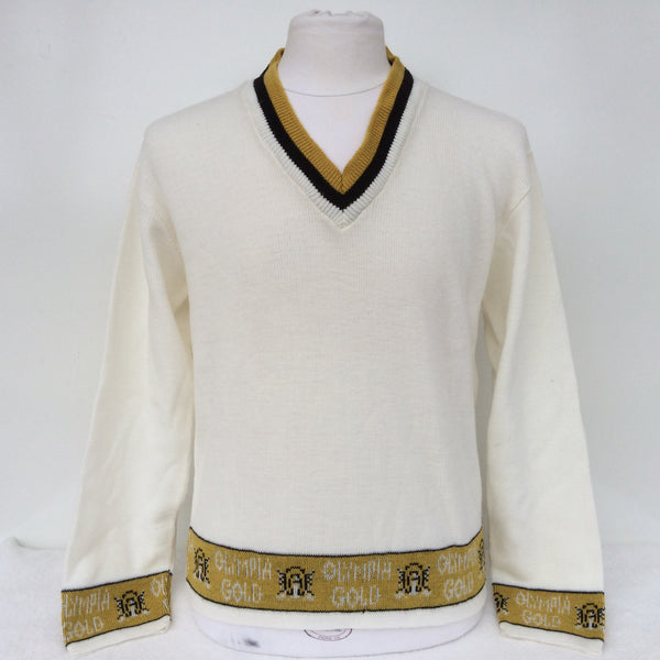Vintage Olympia V-Neck Beer Sweater