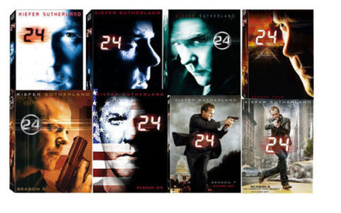 24 - Seasons 1, 2, 3, 4, 5, 6, 7, 8 on dvd ( Used Mint Condition )